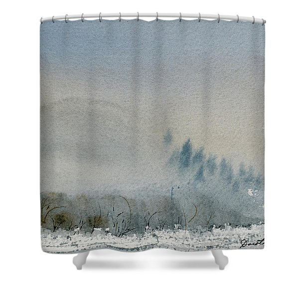 A Misty Morning Shower Curtain
