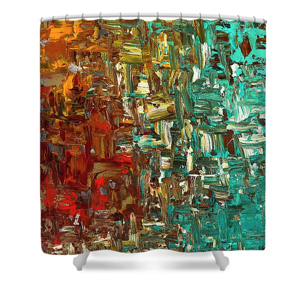 A Moment In Time - Abstract Art Shower Curtain