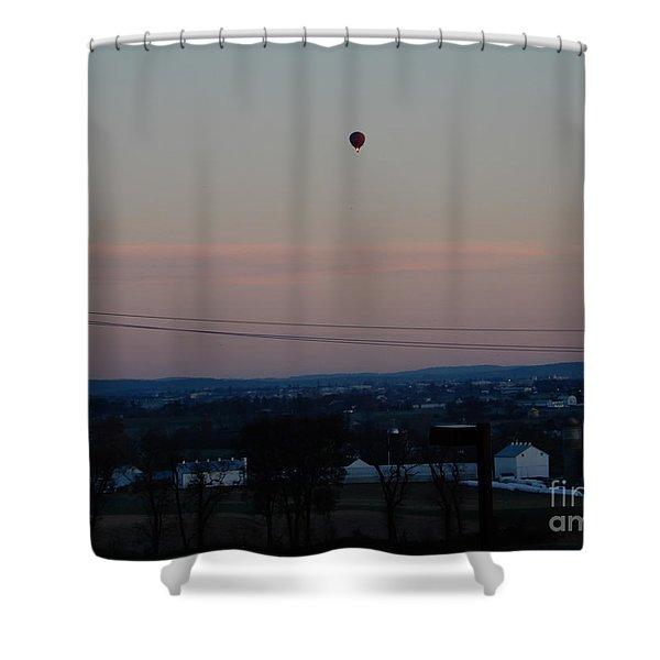 A Morning Hot Air Balloon Ride Shower Curtain