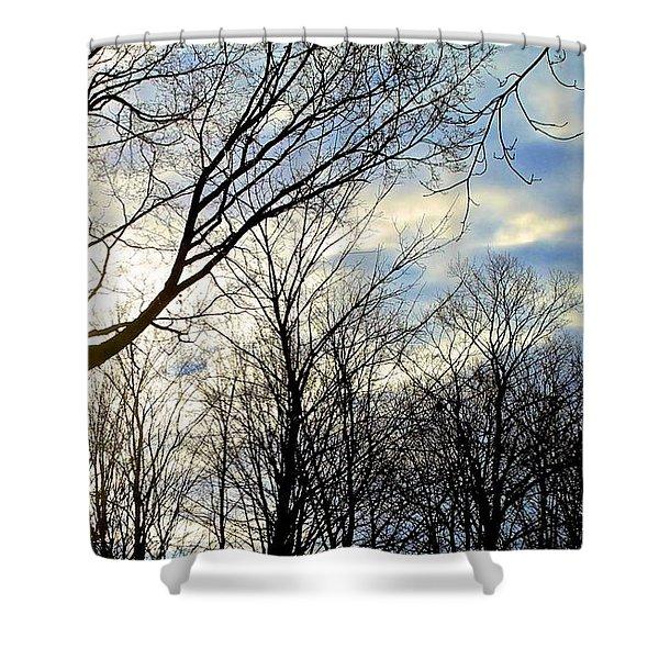 A Morning Sun Shower Curtain