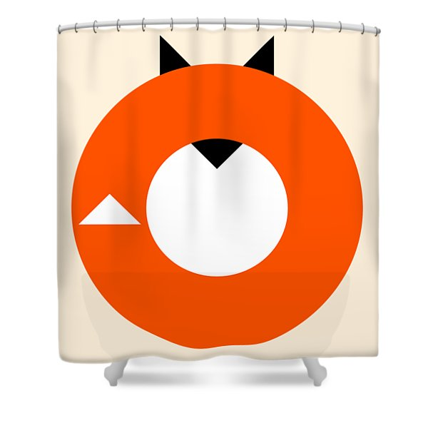 A Most Minimalist Fox Shower Curtain