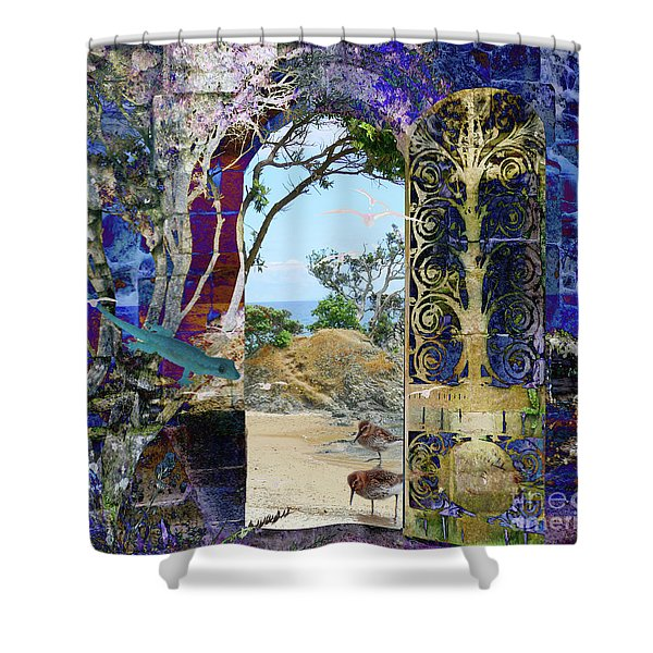 A Narrow But Magical Door Shower Curtain