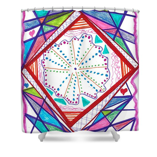 A New Angle Shower Curtain