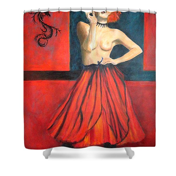 A New Version Of Lisbeth Salander Shower Curtain