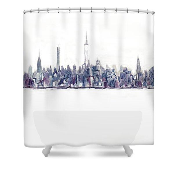A New Year In Manhattan Shower Curtain