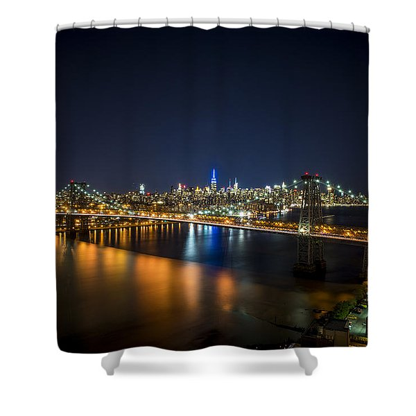 A New York City Night Shower Curtain