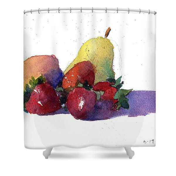 Still Life With Pears Shower Curtain