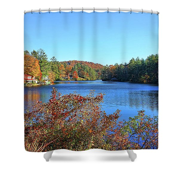 A North Carolina Autumn Shower Curtain