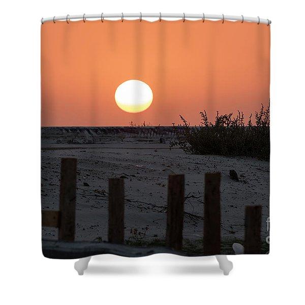A November Sunset Scene Shower Curtain