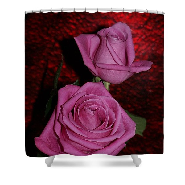 A Pair Of Pink Roses Shower Curtain