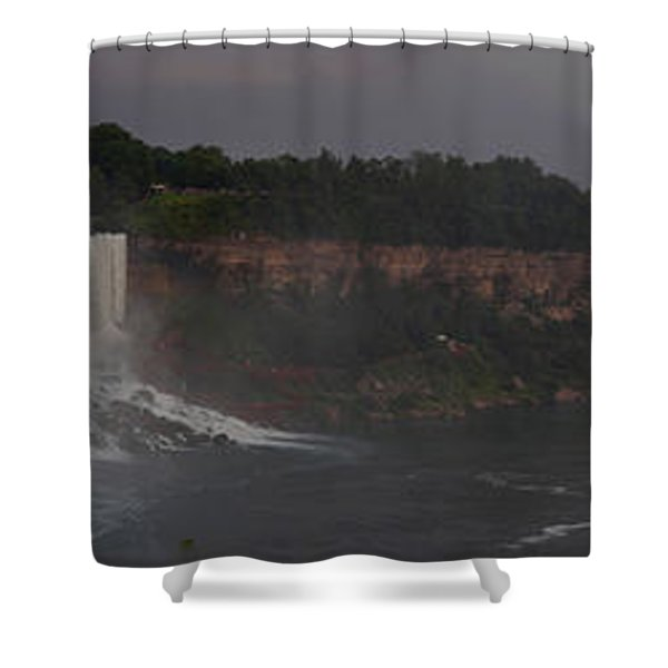 A Panoramic View Of Niagara Falls Shower Curtain