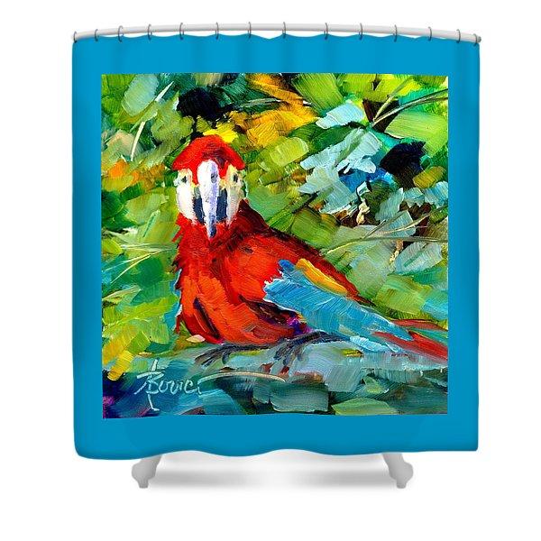 Papagalos Shower Curtain