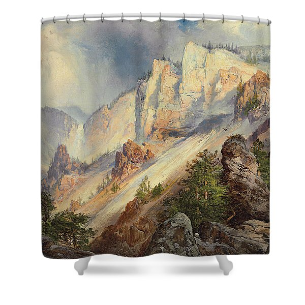 A Passing Shower In The Yellowstone Canyon Shower Curtain