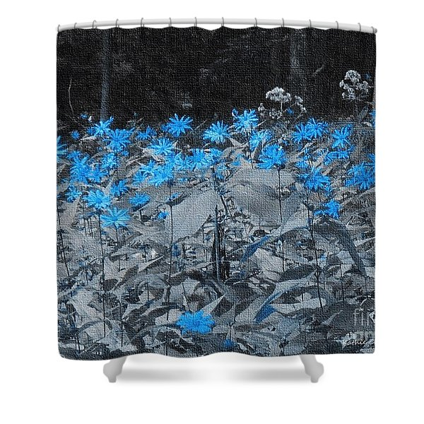 A Patch Of Blue Shower Curtain