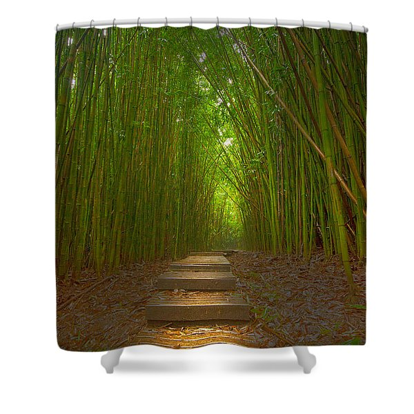 A Path Less Traveled Shower Curtain