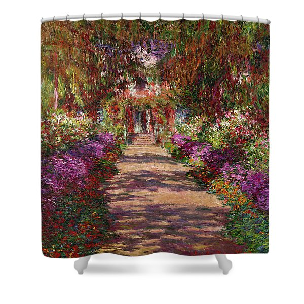A Pathway In Monets Garden Giverny Shower Curtain