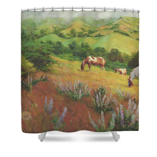 A Peaceful Nibble Shower Curtain
