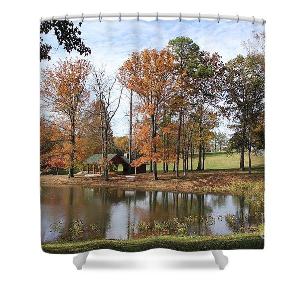 A Peaceful Spot Shower Curtain