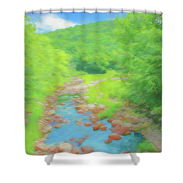 A Peaceful Summer Day In Southern Vermont. Shower Curtain