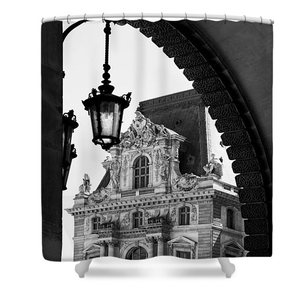 A Peak To The Louvre Shower Curtain