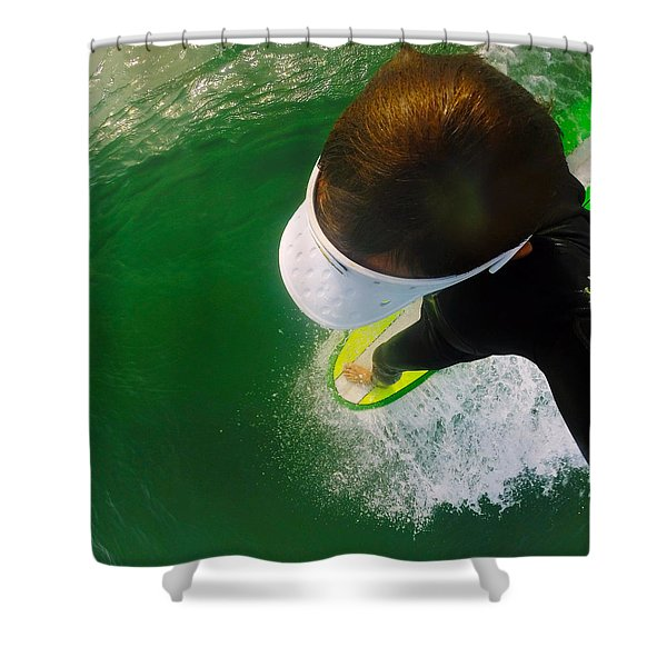 A Pelican's View Shower Curtain