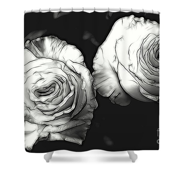 A Perfect Pair Bw Shower Curtain