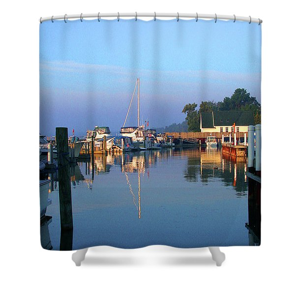 A Perfect Tawas Morning Shower Curtain