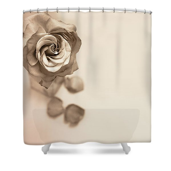A Petal Falls Shower Curtain