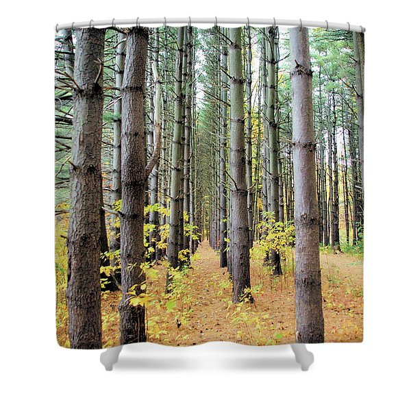A Pines Army Shower Curtain