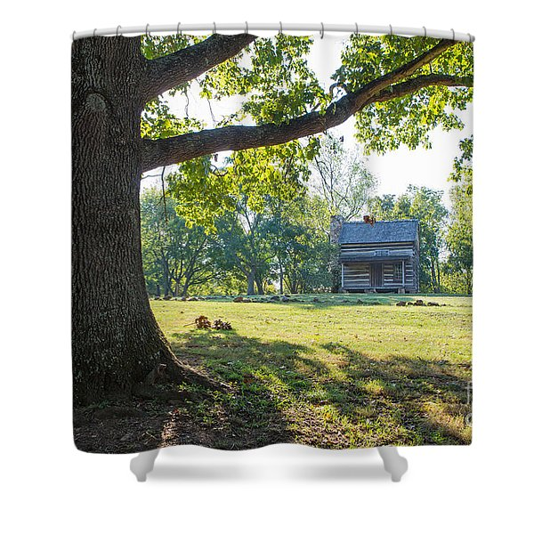 A Pioneer's Stake Shower Curtain