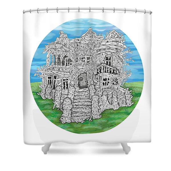House Of Secrets Shower Curtain