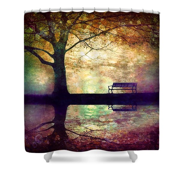 A Place To Rest In The Dark Shower Curtain