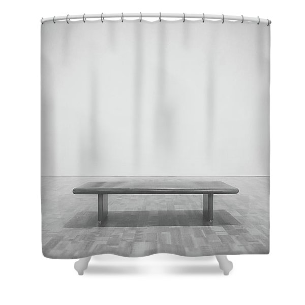 A Place To Sit 3 Shower Curtain