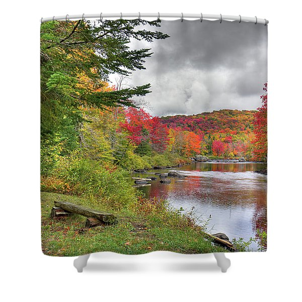 A Place To View Autumn Shower Curtain