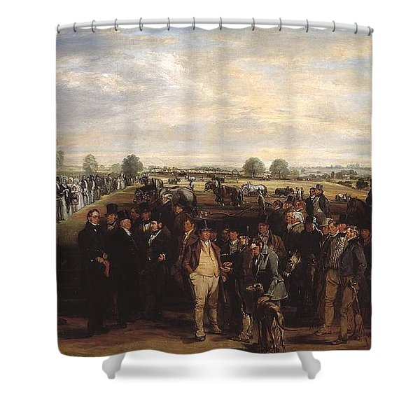 A Ploughing Match Shower Curtain