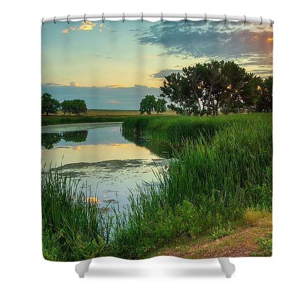 A Portrait Of Summer Shower Curtain
