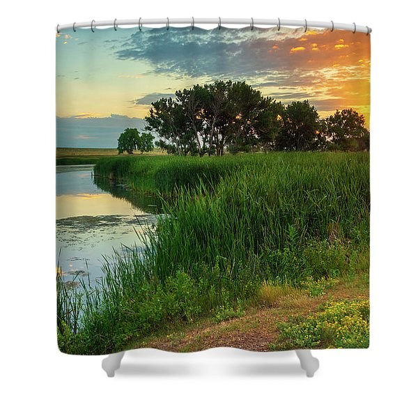 Shower Curtain featuring the photograph A Portrait Of Summer by John De Bord