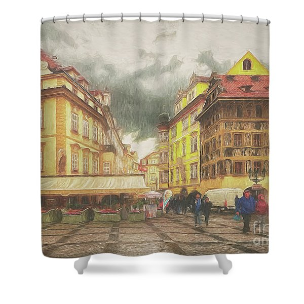 A Rainy Day In Prague Shower Curtain