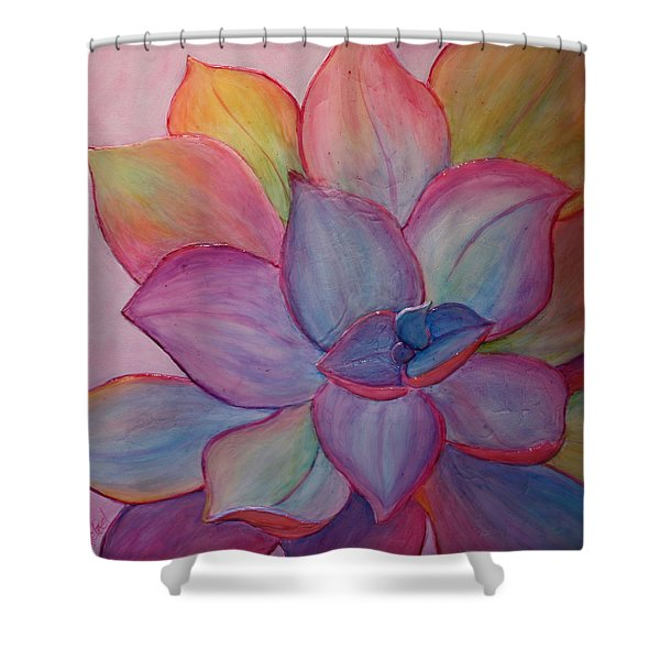 Shower Curtain featuring the painting A Reason For Being by Sandi Whetzel