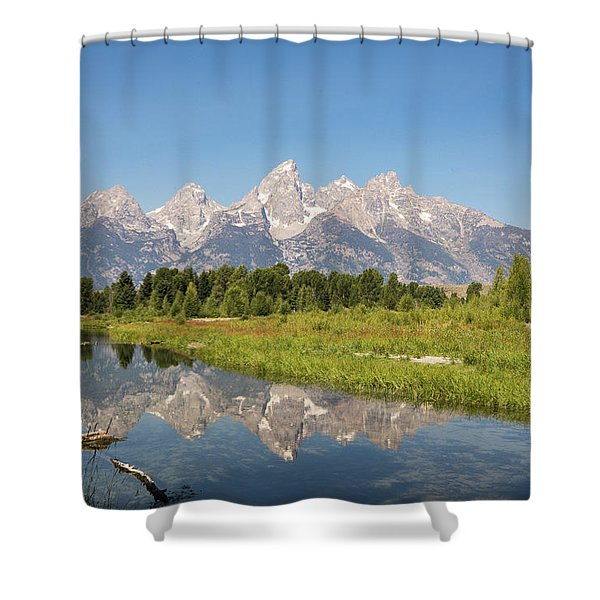 A Reflection Of The Tetons Shower Curtain