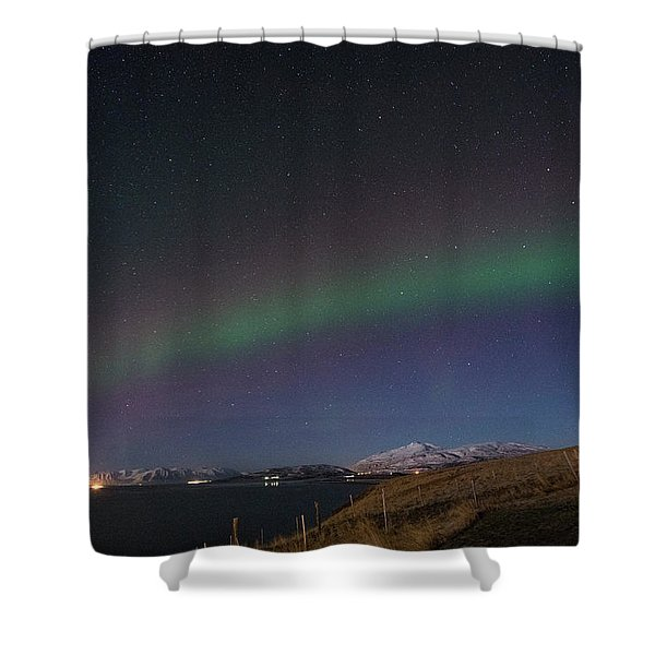 A Ribbon Of Northern Lights Shower Curtain