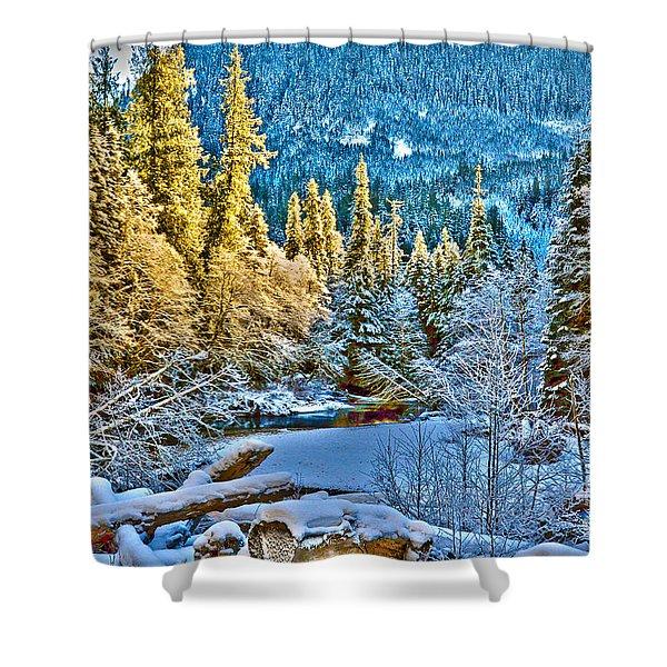 A River Runs Down It Shower Curtain