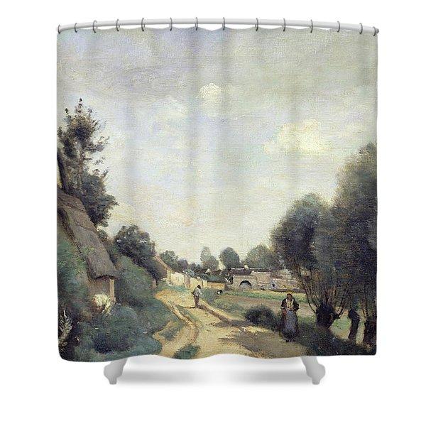 A Road Near Arras Shower Curtain