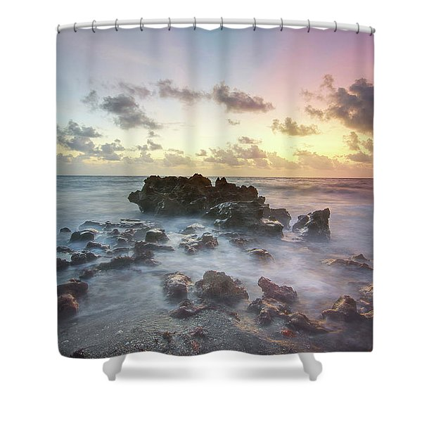 A Rocky Sunrise. Shower Curtain