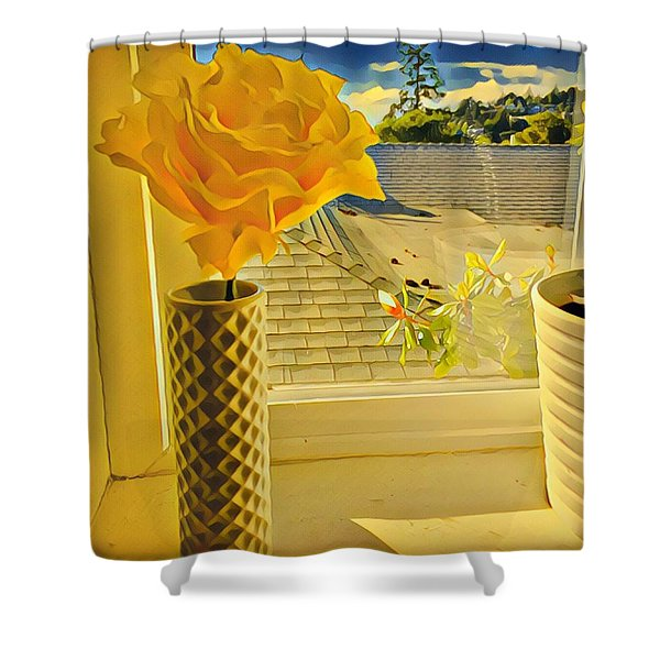 A Rose Is A Rose Electric Shower Curtain