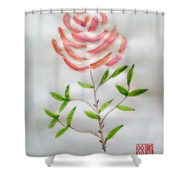 A Rose Is A Rose Is A Rose Shower Curtain
