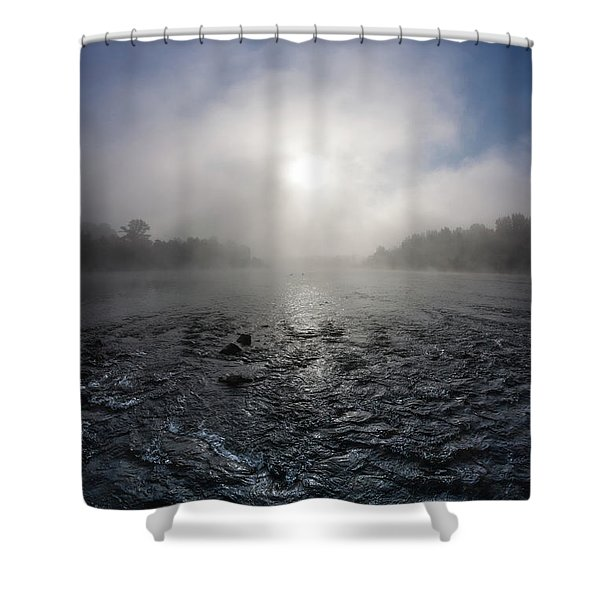 A Rushing River Shower Curtain