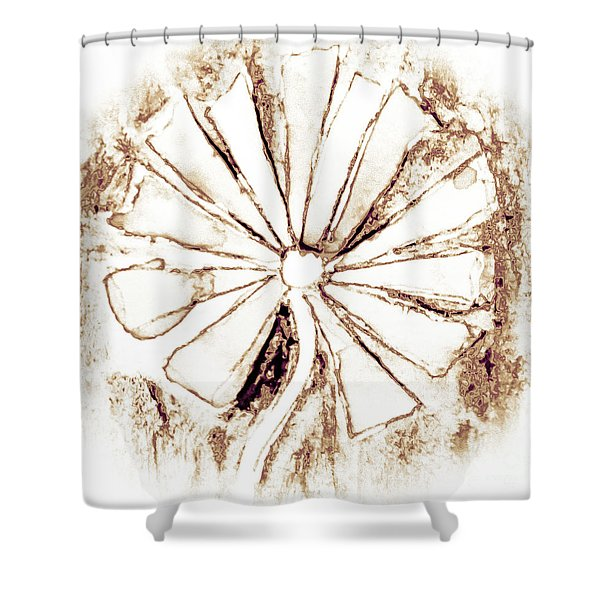 A Rustic Flower Shower Curtain