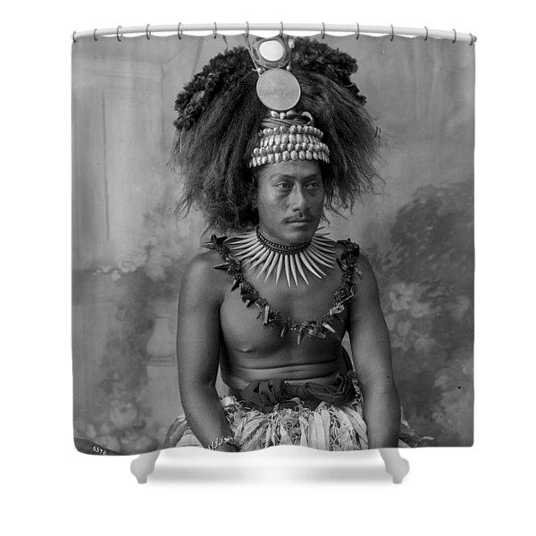 A Samoan High Chief Shower Curtain
