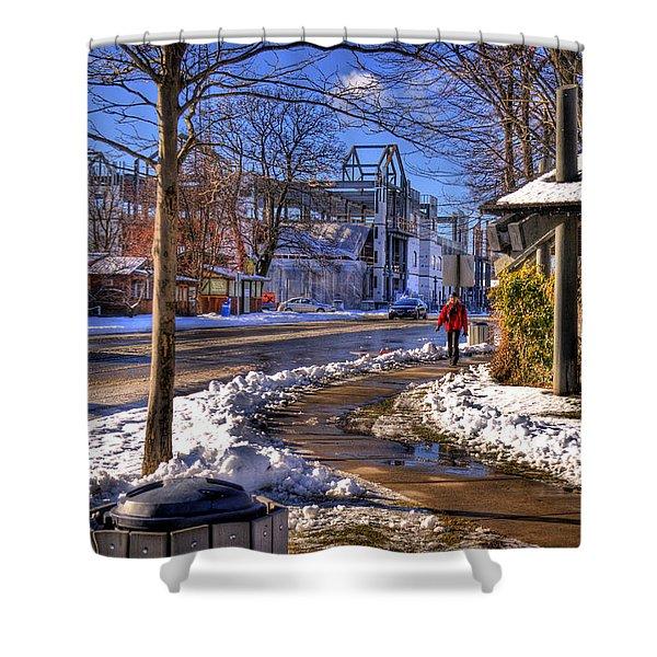 A Sandpoint Winter Shower Curtain